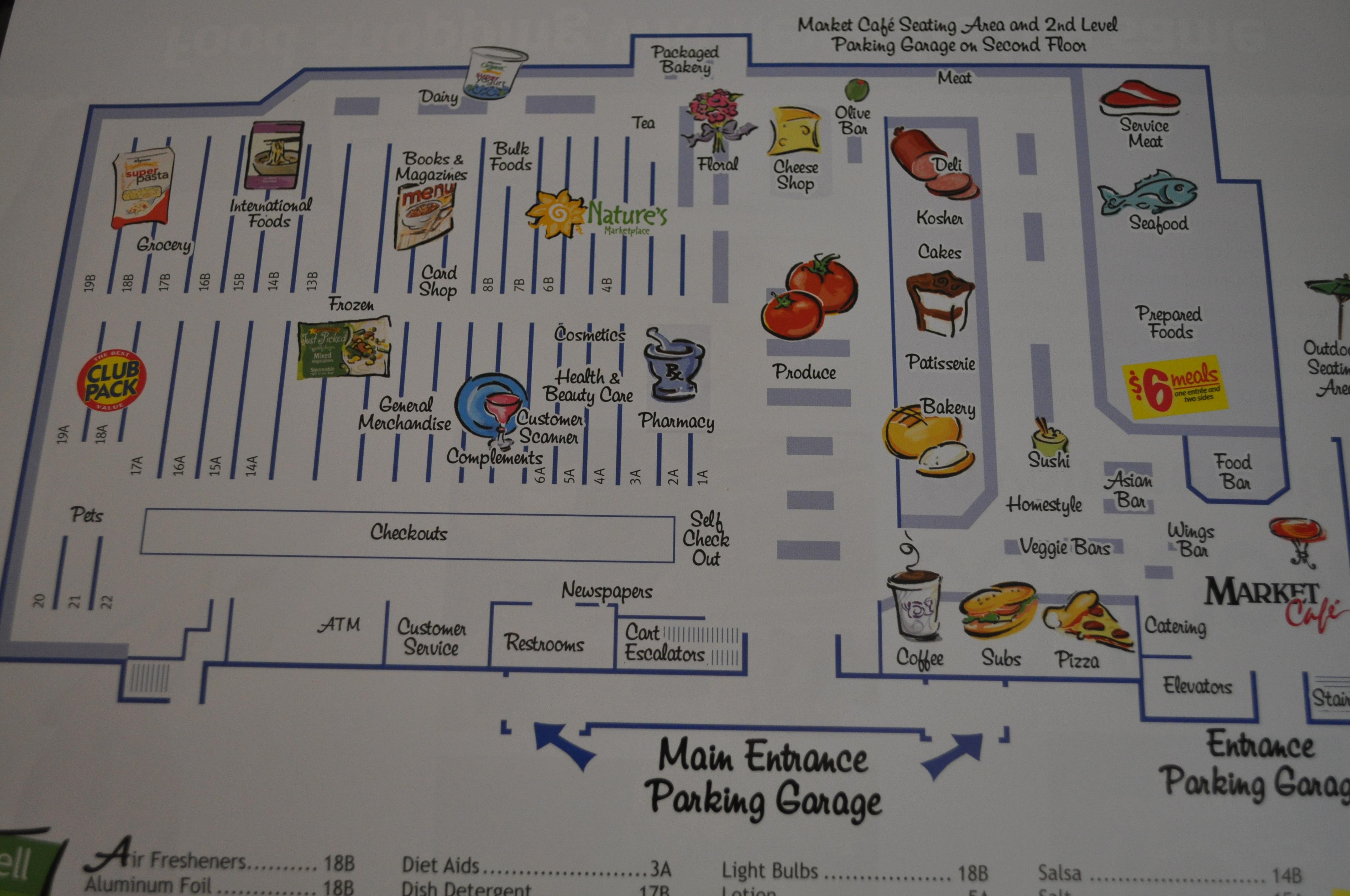 The Wegmans Effect, Part Two   AnnieRie Unplugged  Safeway Store Layout