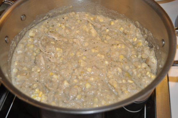 chicken corn chowder, no cream