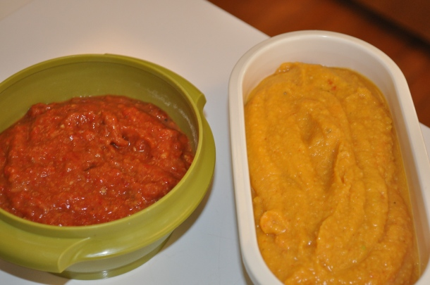 ajvar and hummus