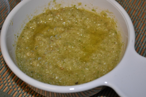 garlic scape pesto dinner 003
