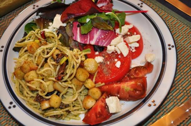 pesto, pasta, sauvignon blanc, tomatoes 106